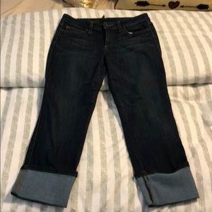 Joes crop darn denim jeans